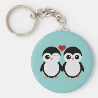 Porte-clés Couples de pingouin