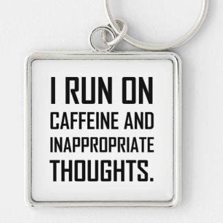 Porte-clés Courez les pensées inadéquates de caféine