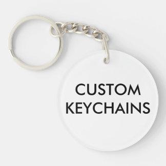 Porte-clés Coutume personnalisée autour du modèle de blanc de