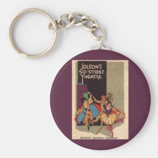 Porte-clés Couverture 1923 d'affiche du théâtre d'Al Jolson