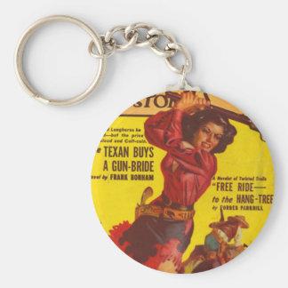 Porte-clés Cow-girl fâchée