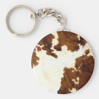Porte-clés Cowboy d'impression de peau de vache !
