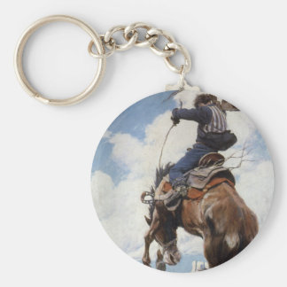 Porte-clés Cowboys occidentaux vintages, s'opposant par OR