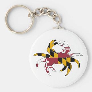 Porte-clés Crabe de drapeau du Maryland
