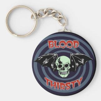 Porte-clés Crâne assoiffé de sang