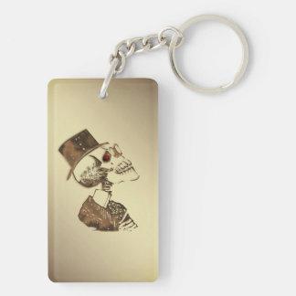 Porte-clés Crâne de Steampunk sur l'or