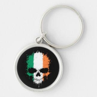 Porte-clés Crâne d'éclaboussure d'égoutture de l'Irlande