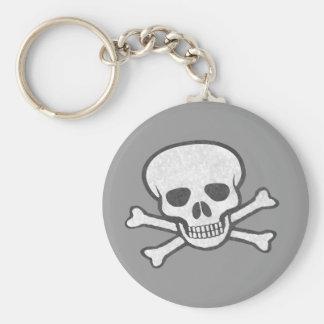 Porte-clés Crâne et porte - clé gris d'os croisés