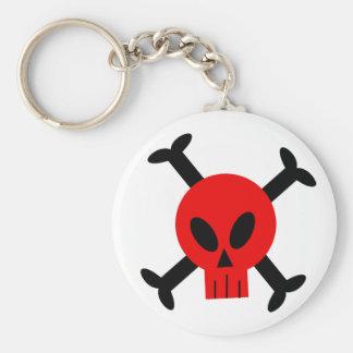 Porte-clés Crâne et porte - clé rouges d'os croisés