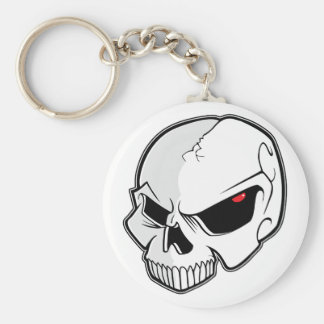Porte-clés Crâne rouge sang mauvais de globes oculaires