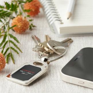 Porte-clés Créez votre propre rectangle de coutume de photo