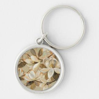 Porte-clés Crème de simplicité de magnolia
