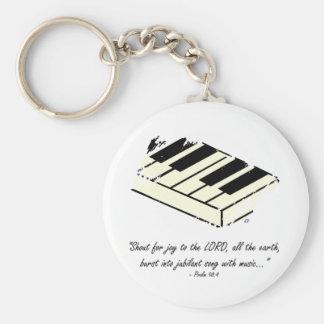 """Porte-clés """"Cri pour la joie - porte - clé de piano"""""""