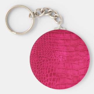 Porte-clés Croco Rouge cerise