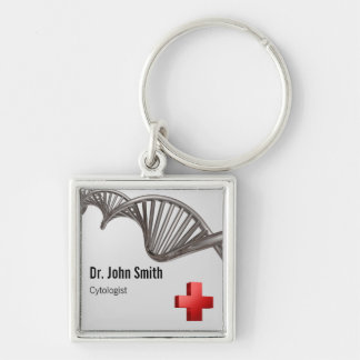 Porte-clés Croix-Rouge médicale professionnelle d'ADN - porte
