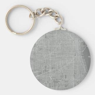 Porte-clés Croquis de carte de ville de Chicago