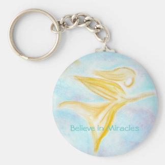 Porte-clés Croyez au porte - clé de miracles