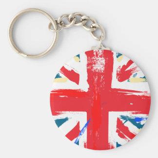 Porte-clés Cru britannique de drapeau d'Union Jack porté