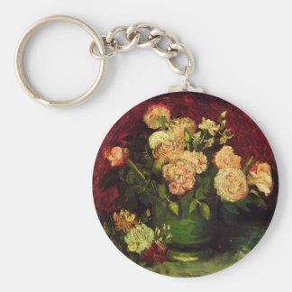 Porte-clés Cuvette de Van Gogh avec des pivoines et des