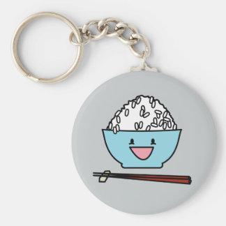Porte-clés Cuvette heureuse de glucides de baguettes de riz