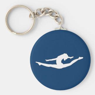 Porte - clés d'acclamation de gymnastique de danse porte-clé rond