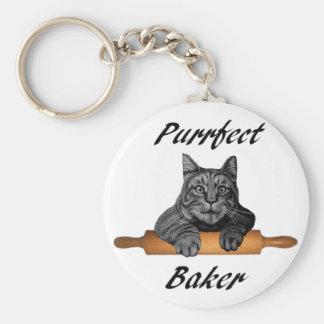 Porte-clés Dame folle de chat de cadeaux de chat de Baker de