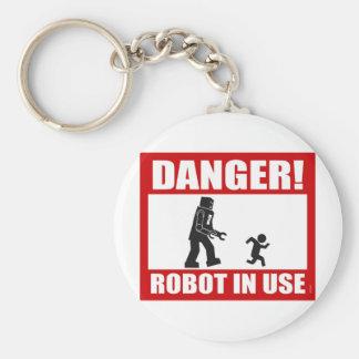 Porte-clés Danger ! Porte - clé en service de robot