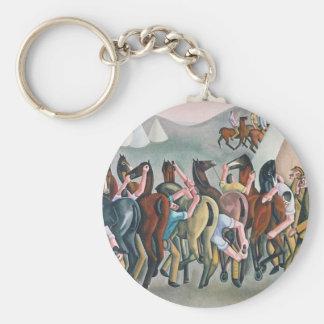 Porte-clés Dans la ligne de chariot