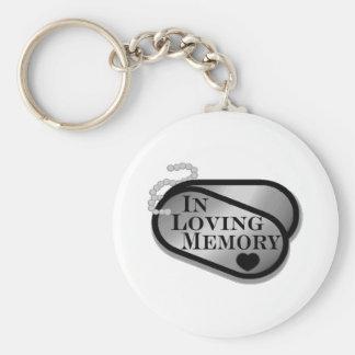 Porte-clés Dans les étiquettes de chien affectueuses de