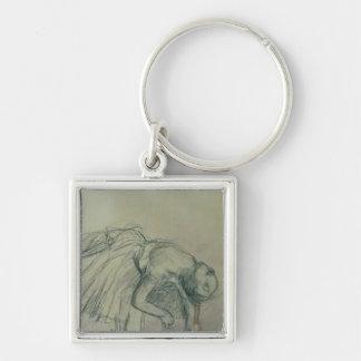 Porte-clés Danseur d'Edgar Degas | fixant sa pantoufle,
