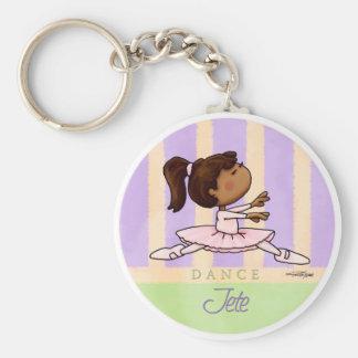 Porte-clés Danseuse de ballerine d'Afro-américain