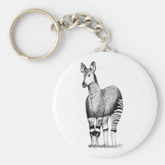 Porte-clés d'art d'okapi