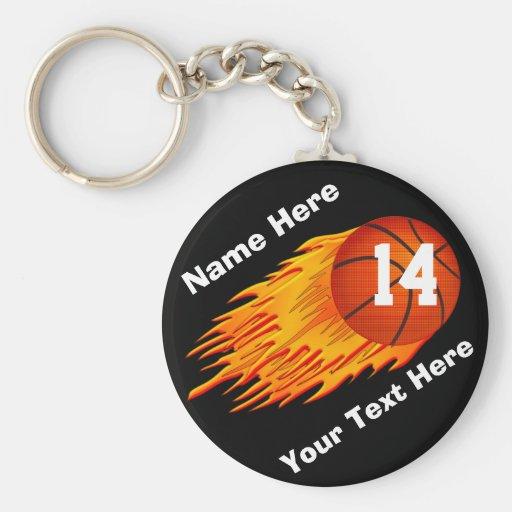 Porte - clés de basket-ball personnalisés flamber porte-clefs
