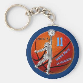 Porte - clés de basket-ball votre ANNÉE, NOMBRE, Porte-clé Rond