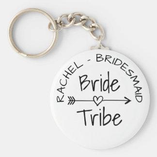 Porte - clés de cadeau de bachelorette de tribu de porte-clé rond