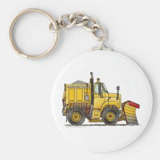 Porte - clés de camion de chasse-neige porte-clé rond