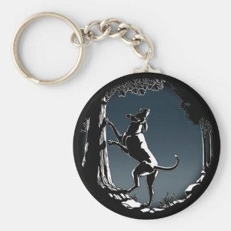 Porte - clés de chien de chasse chassant des porte porte-clés
