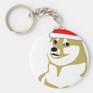 Porte-clés de doge wouah de meme Noël très un tel casquette