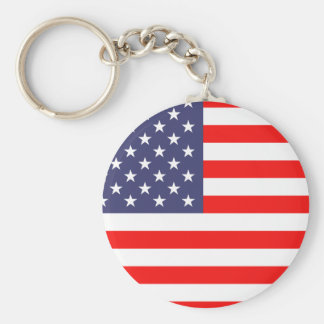 Porte - clés de drapeau américain porte-clé rond
