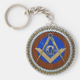 Porte-clés de franc-maçon carré et boussole de conspiration