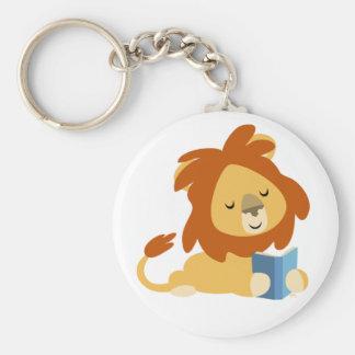Porte-clés de lion de bande dessinée de lecture