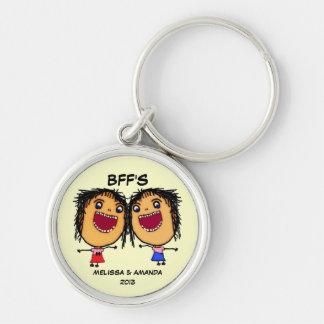 Porte-clés De meilleurs amis bande dessinée drôle pour