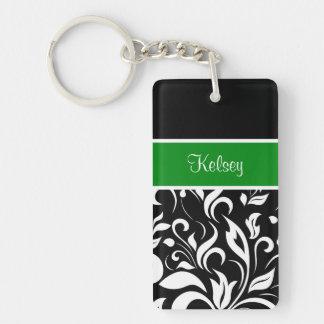 Porte - clés de monogramme de filles porte-clé rectangulaire en acrylique double face
