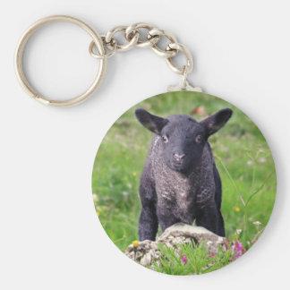 Porte-clés de moutons noirs de Bêlement-Bêlement