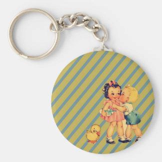 Porte-clés de nouveau à de rétros enfants de cru de kitsch de