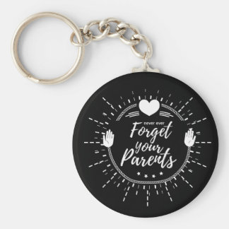 porte - clés de parent porte-clé rond