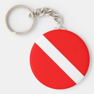 Porte-clés De plongeur SCAPHANDRE classique de drapeau vers