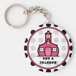 Porte-clés De polka du point porte - clé de professeur pré K