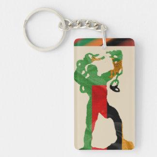 Porte-clés de silhouette de statue de liberté