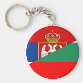 Porte-clés de symbole de pays de drapeau de la Serbie